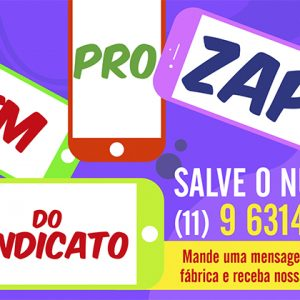 Entre no Zap do Sindicato