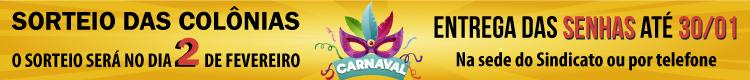 Banner_Sorteio Colônias Carnaval 2020