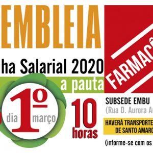 Setor farmacêutico define pauta da Campanha salarial 2020