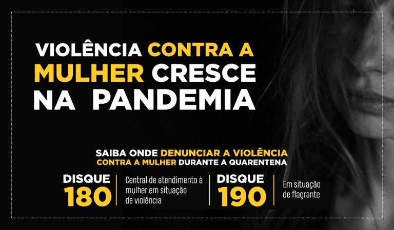 Violência contra a mulher cresce na pandemia