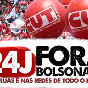 Atos Fora Bolsonaro estão confirmados para sábado, 24